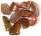10 Australian agate stones tumbled and polished