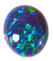 Solid black opal #CBO4