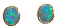 14k gold opal stud earrings #OAGE35
