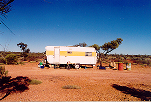 Mobile camp at Elvo station