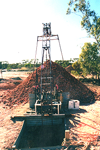 Our motorised hoist connected to the mining shaft