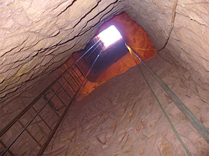 View from the bottom of the mining shaft