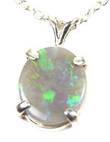 Sterling silver pendant with a solid boulder opal