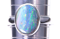 Sterling silver 925 opal ring #JGR31