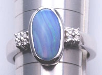 Sterling silver 925 opal ring #JGR34