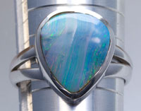 Sterling silver 925 opal ring #JGR37