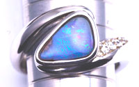 Sterling silver opal ring #OGR30